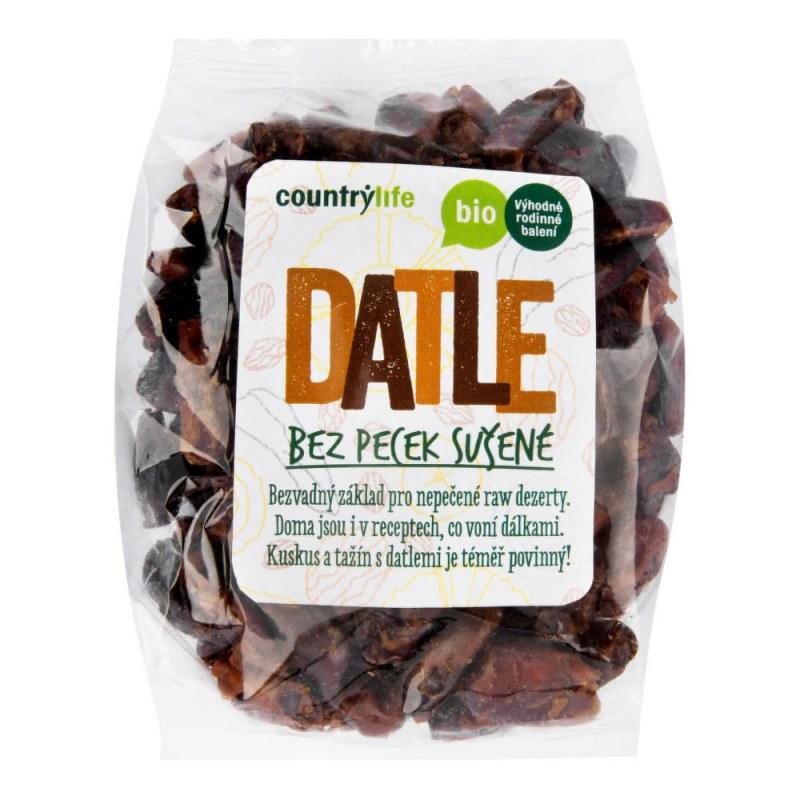 Datle sušené bez pecek 500g BIO COUNTRYLIFE - Zdravá výživa a biopotraviny Ořechy, sušené ovoce, semínka Sušené ovoce Jednodruhové sušené ovoce