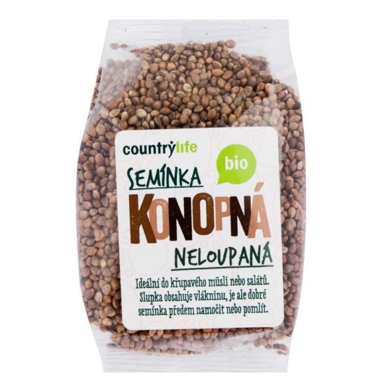 Konopná semínka neloupaná 250g BIO COUNTRYLIFE - Zdravá výživa a biopotraviny Ořechy, sušené ovoce, semínka