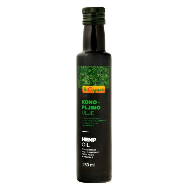 Olej konopný 250ml BIO BIORGANIC - Zdravá výživa a biopotraviny Rostlinné oleje, ghí