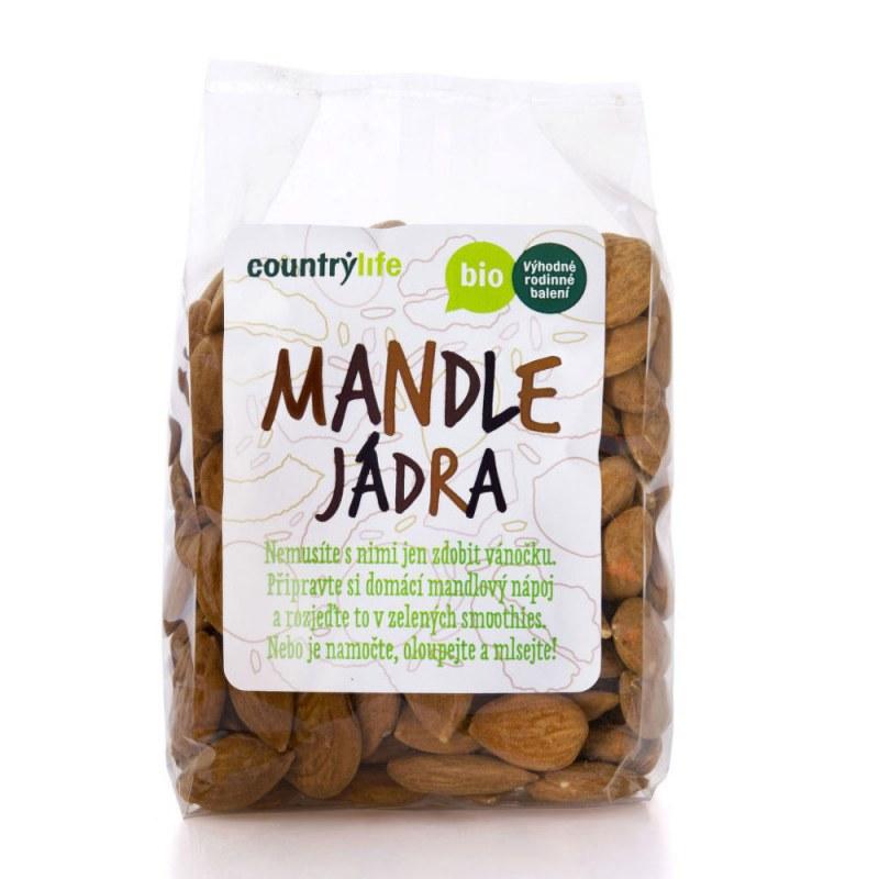 Mandle 250g BIO COUNTRYLIFE - Zdravá výživa a biopotraviny Ořechy, sušené ovoce, semínka Ořechy