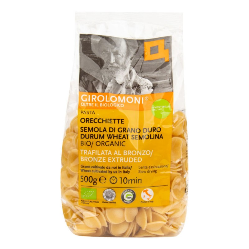 Těstoviny orecchiette semolinové 500 g BIO GIROLOMONI - Zdravá výživa a biopotraviny Rýže, těstoviny, vločky a jiné obiloviny Těstoviny, kuskus, bulgur