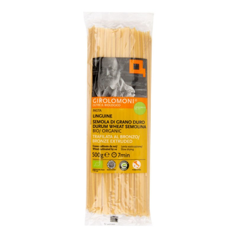 Těstoviny linguine semolinové 500 g BIO GIROLOMONI - Zdravá výživa a biopotraviny Rýže, těstoviny, vločky a jiné obiloviny Těstoviny, kuskus, bulgur