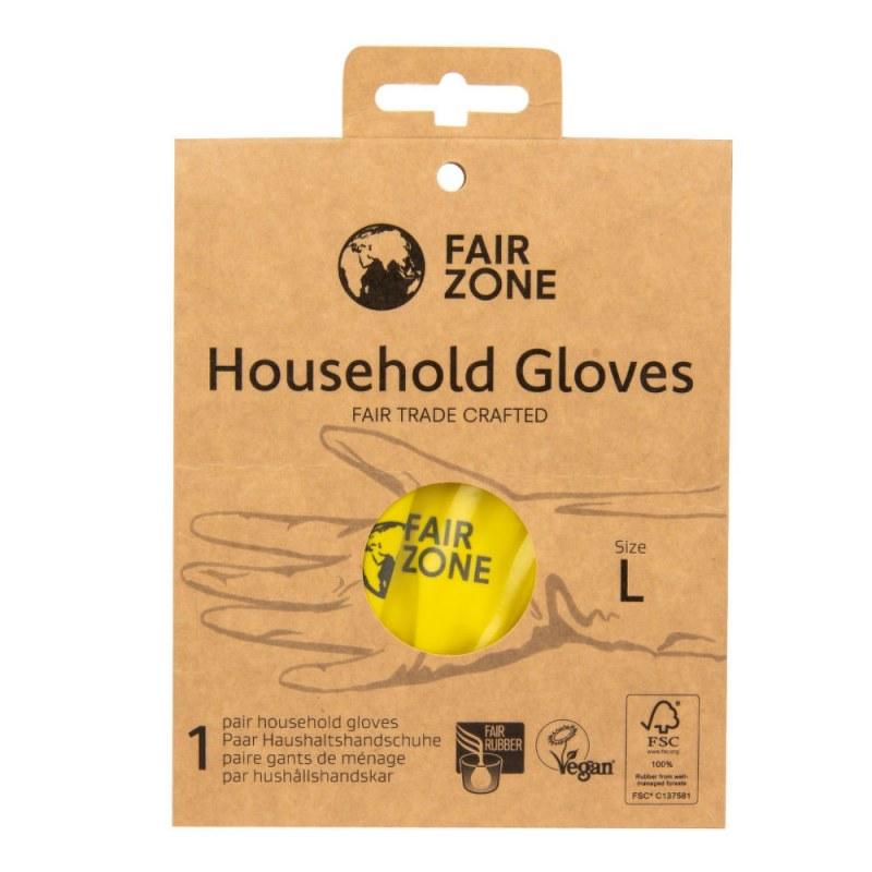Rukavice pro domácnost z přírodního latexu L FAIR ZONE FAIR SQUARED - E-shop EKO drogerie - Ecover, Ecogenic