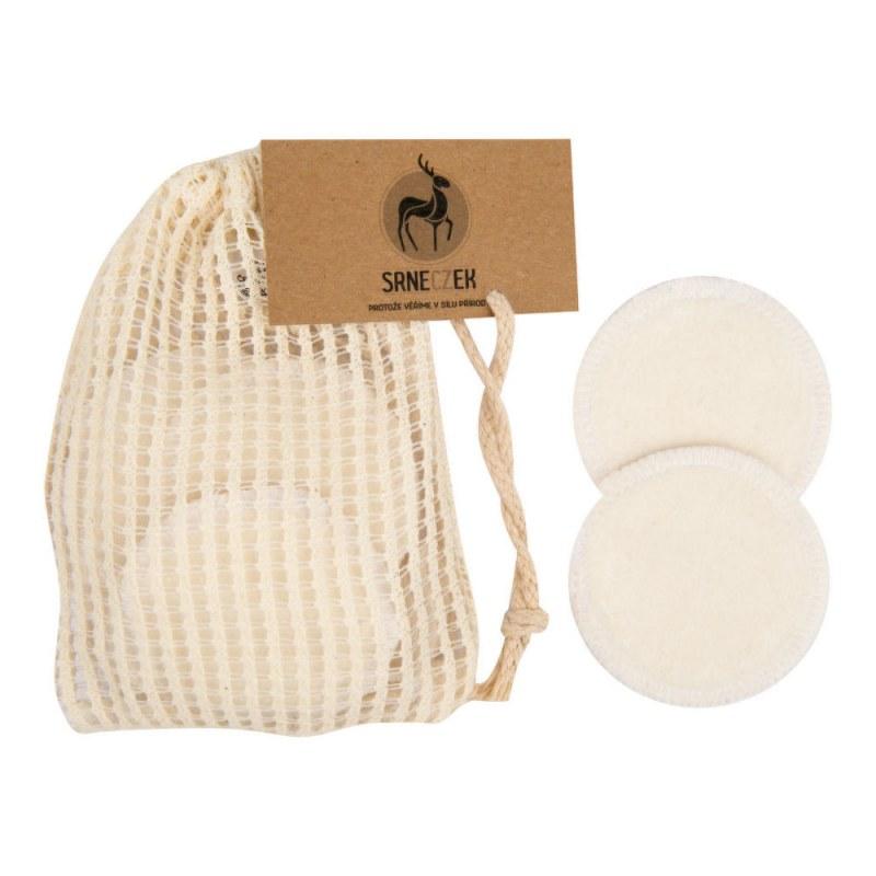 Odličovací tampony pratelné 10 kusů z Bio bavlny a bambusu SRNECZEK - Přírodní kosmetika Francie, USA Pleťová kosmetika Čištění pleti