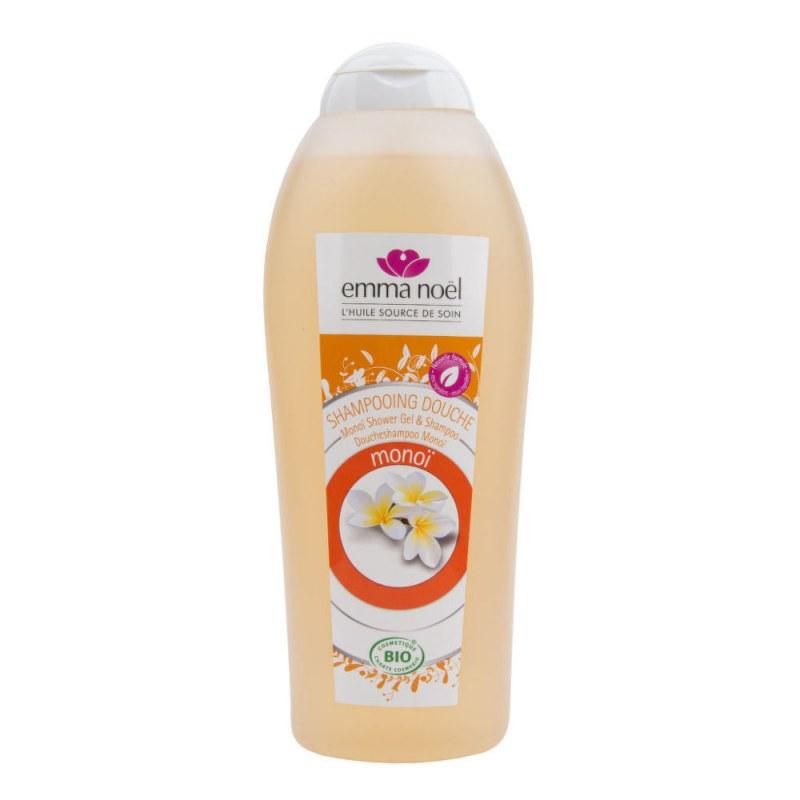 Šampon na tělo a vlasy monoi 750 ml BIO EMMA NOËL - Přírodní kosmetika Francie, USA Vlasová kosmetika Šampóny