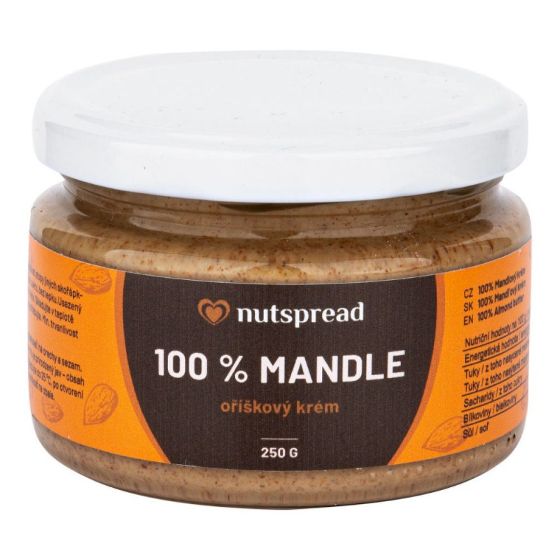 Krém z pražených mandlí 250 g NUTSPREAD - Zdravá výživa a biopotraviny Pomázanky, paštiky, džemy Pomázanky z ořechů a semínek