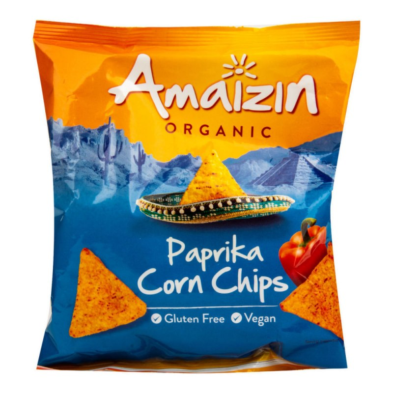 Chipsy kukuřičné paprikové 75 g BIO AMAIZIN - Zdravá výživa a biopotraviny Něco na zub Slané Tyčinky, crackery, křupky