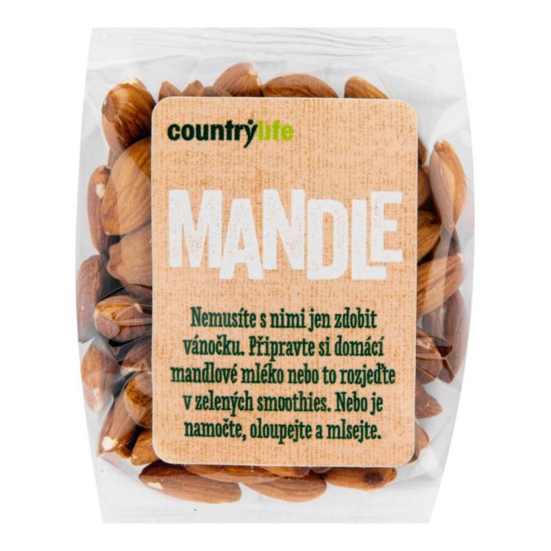 Mandle 100g COUNTRYLIFE - Zdravá výživa a biopotraviny Ořechy, sušené ovoce, semínka Ořechy