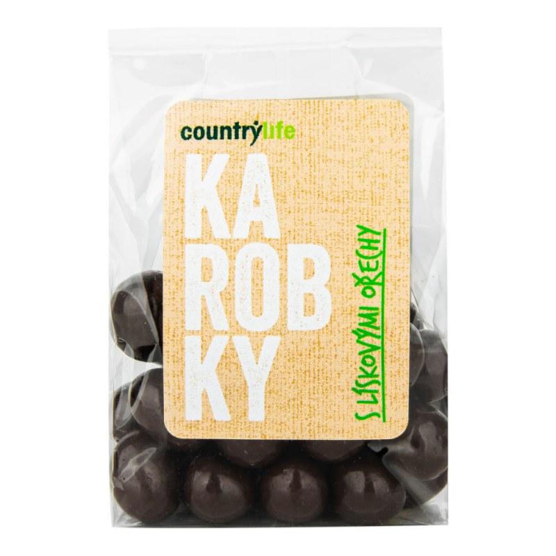 Karobky s lískovými ořechy 100 g COUNTRY LIFE - E-shop