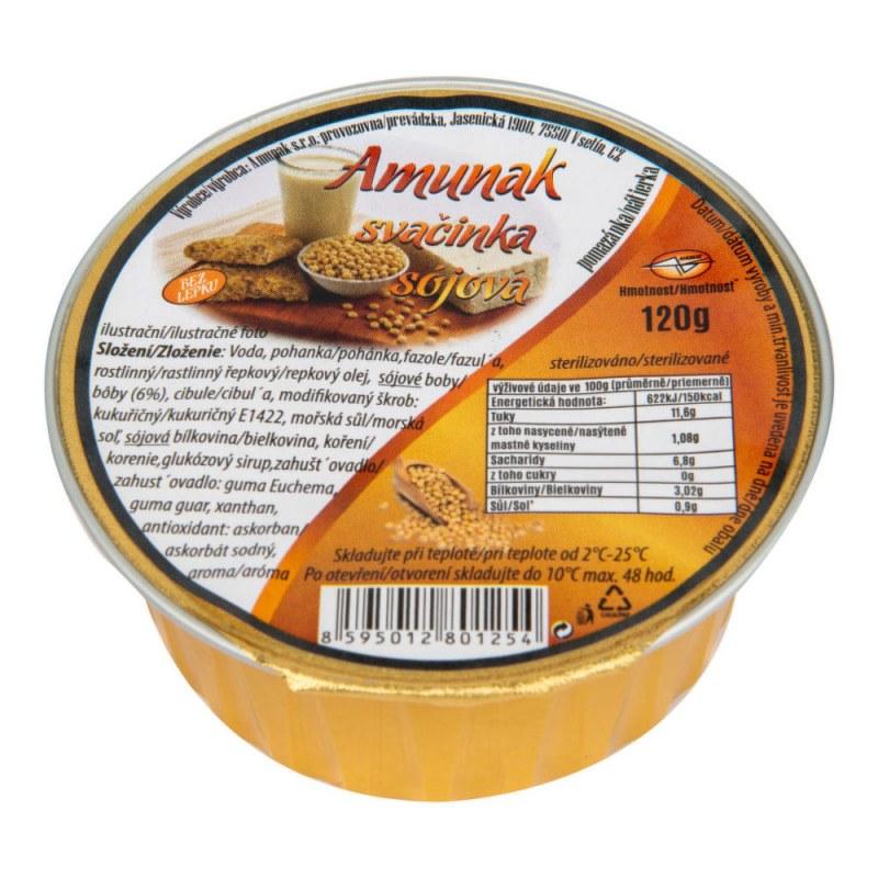 Svačinka sójová 120g AMUNAK - Zdravá výživa a biopotraviny Pomázanky, paštiky, džemy Slané pomazánky