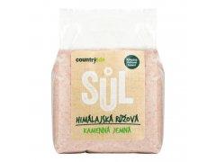 Sůl himálajská růžová jemná 1kg COUNTRYLIFE 7060