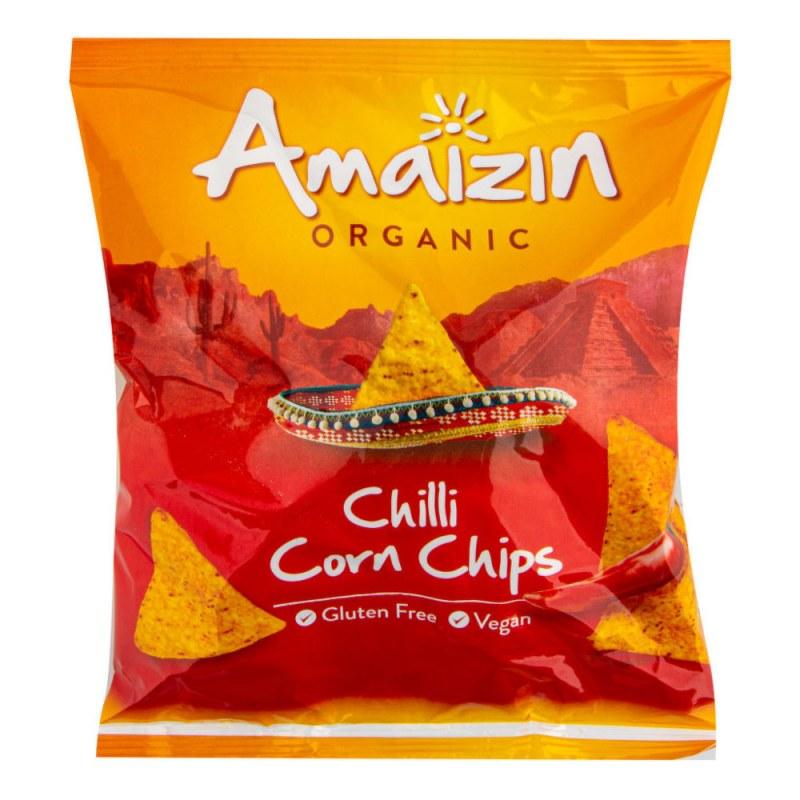 Chipsy kukuřičné chilli 75 g BIO AMAIZIN - Zdravá výživa a biopotraviny Něco na zub Slané Chlebíčky, knackebroty