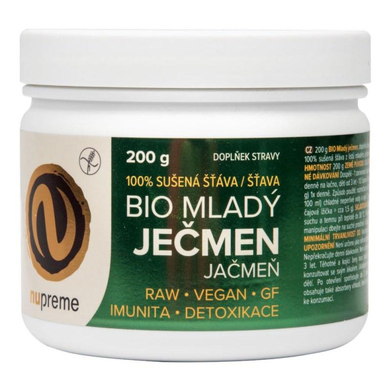 Mladý ječmen 200 g BIO NUPREME - Zdravá výživa a biopotraviny Superpotraviny a doplňky stravy