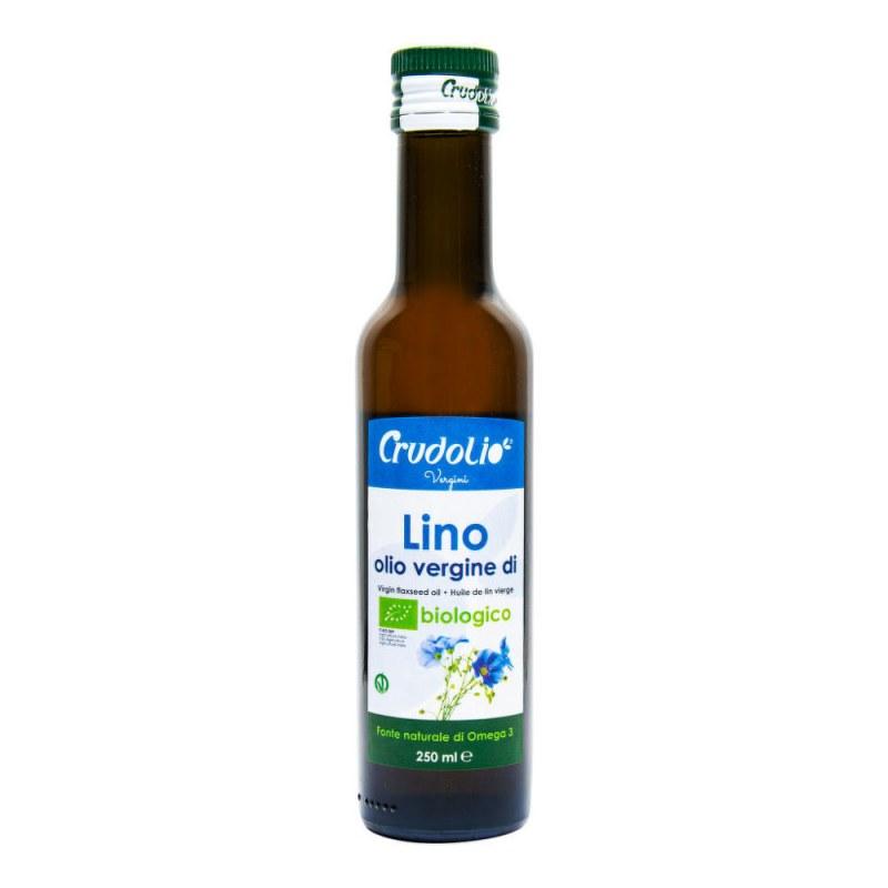 Olej lněný 250 ml BIO CRUDOLIO - Zdravá výživa a biopotraviny Rostlinné oleje, ghí
