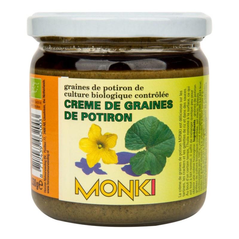 Krém z pražených dýňových semínek 330g BIO MONKI - Zdravá výživa a biopotraviny Pomázanky, paštiky, džemy Pomázanky z ořechů a semínek
