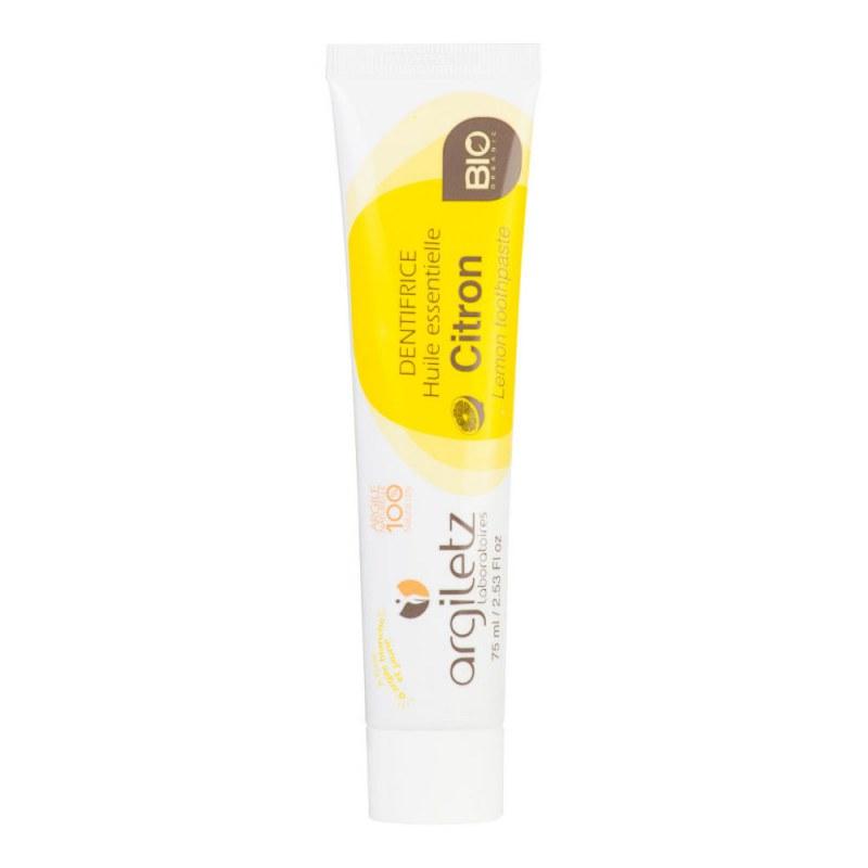 Zubní pasta s bílým a žlutým jílem citron 75 ml BIO ARGILETZ - Přírodní kosmetika Francie, USA Ústní hygiena Zubní pasty