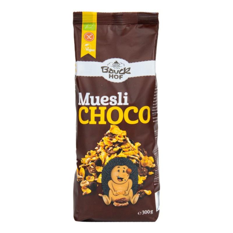 Müsli čokoládové bezlepkové 300g BIO BAUCK - Zdravá výživa a biopotraviny Rýže, těstoviny, vločky a jiné obiloviny Vločky, müsli, lupínky